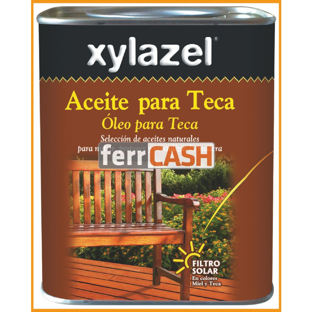 ACEITE PARA TECA COLOR MIEL 750ML 0630103 XYLAZEL