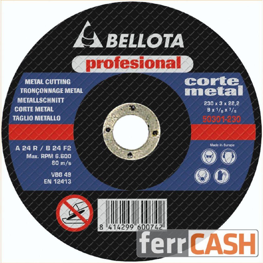 DISCO CORTE METAL PROFESIONAL BELLOTA 125X3X22 50301-125