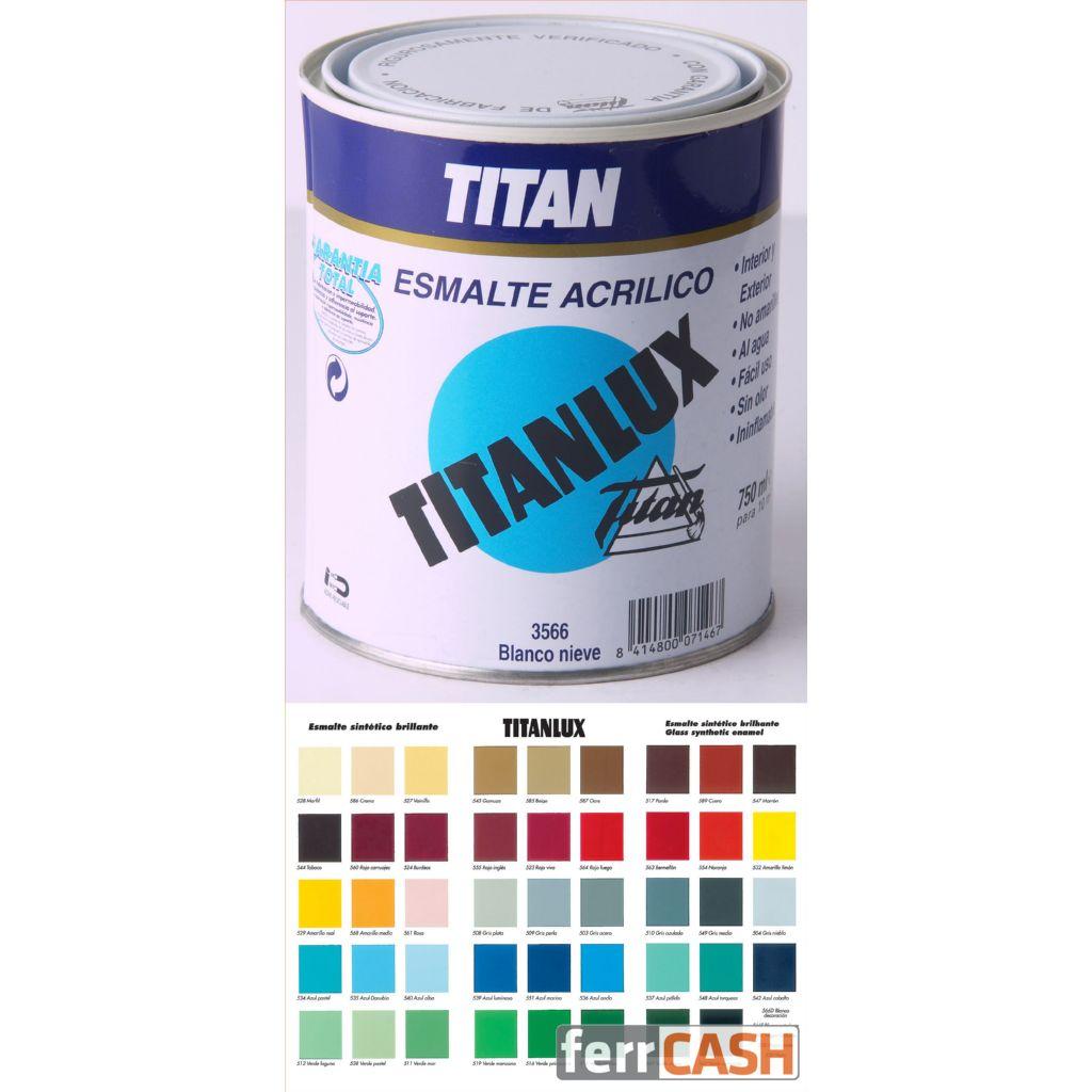 ESMALTE ACRILICO BRILLAN TITANLUX BLANCO 125ML 004356618