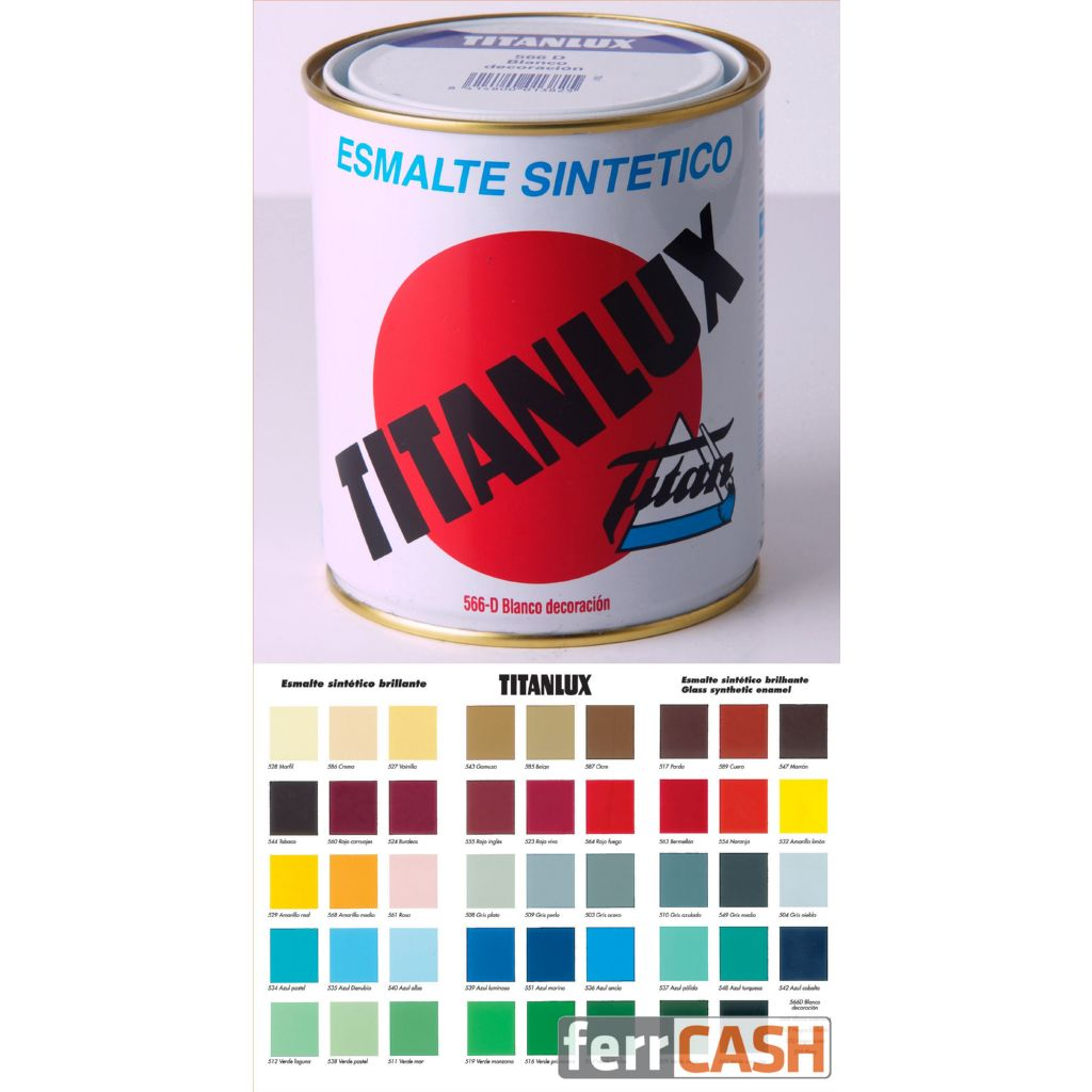 ESMALTE SINTETICO BRILLANTE TITANLUX MARRON 375ML 001054738