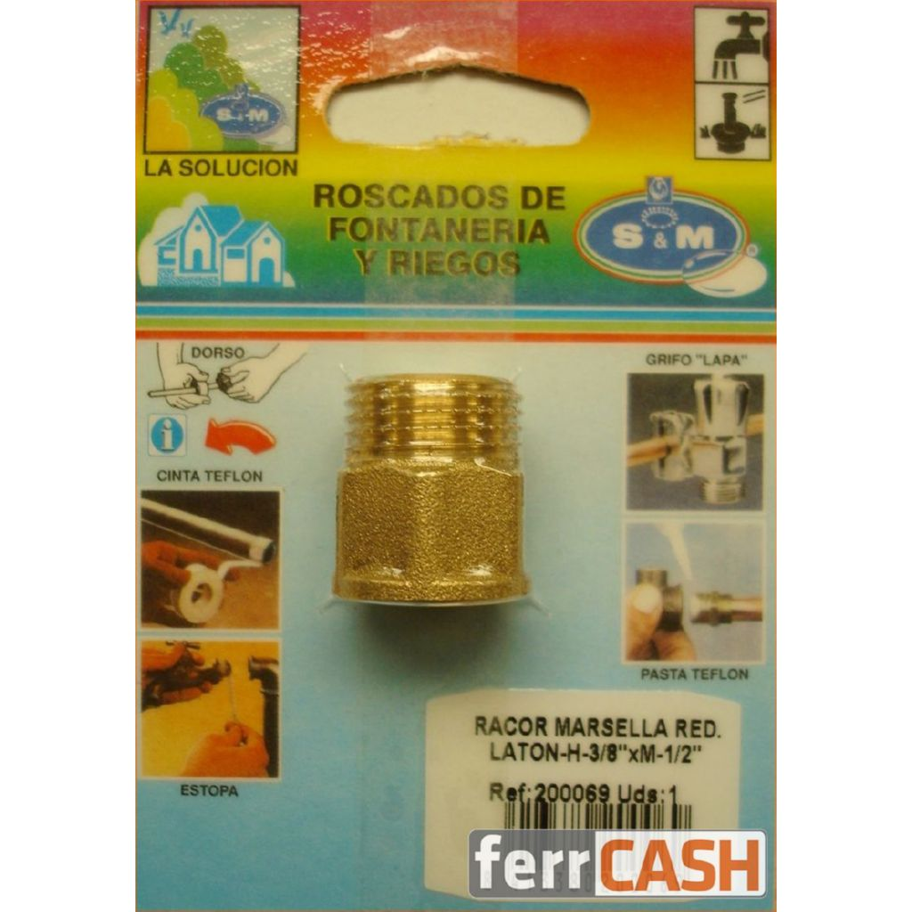 RACOR MARSELLA REDONDO M1/2XH3/8 200069